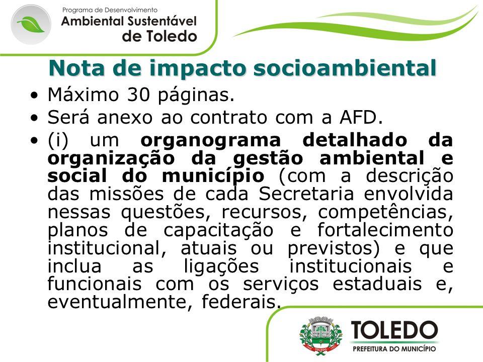 Nota de impacto socioambiental