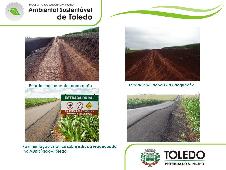 Estrada rural depois da adequação