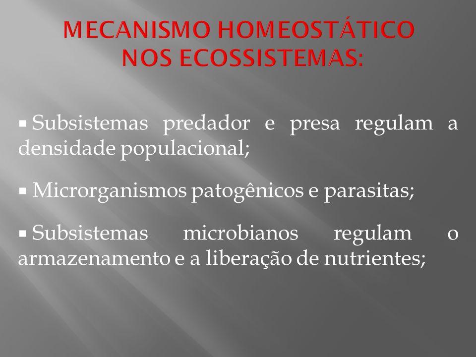 MECANISMO HOMEOSTÁTICO NOS ECOSSISTEMAS: