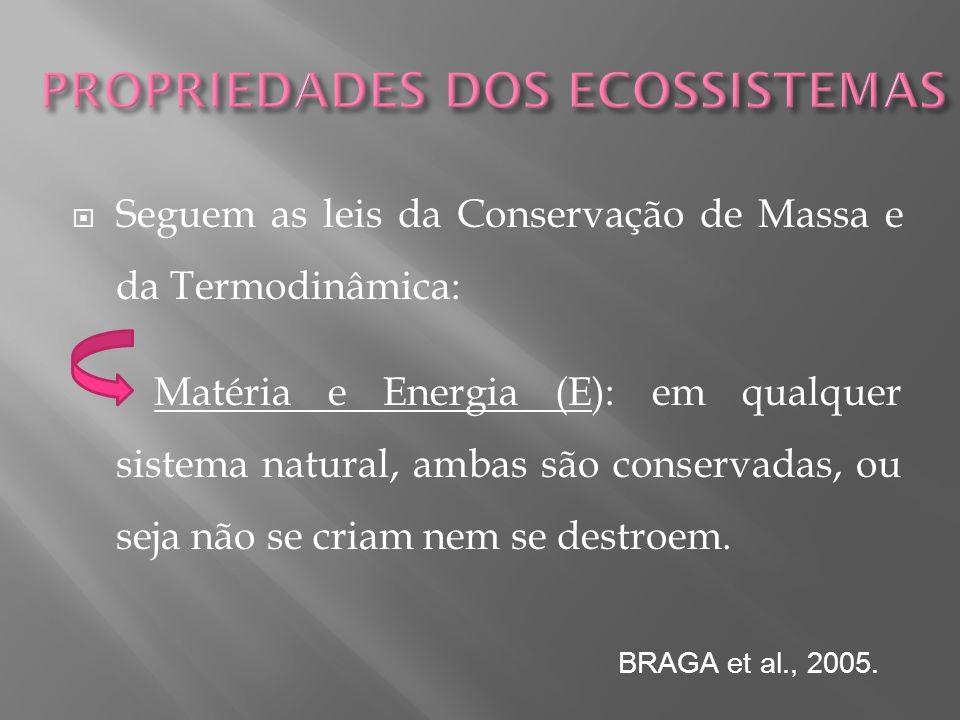 PROPRIEDADES DOS ECOSSISTEMAS