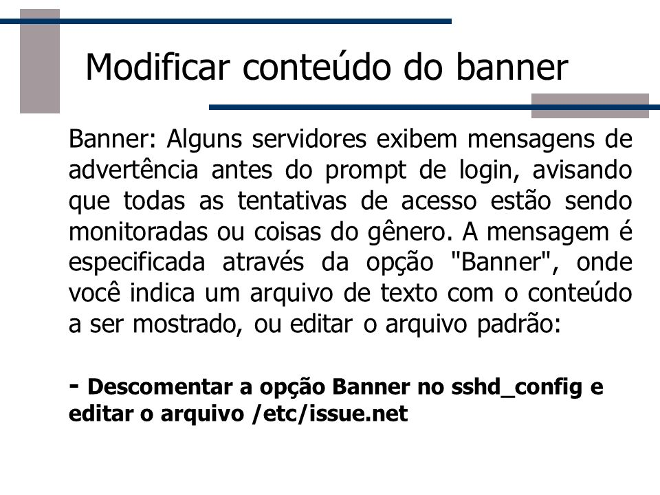 Modificar conteúdo do banner