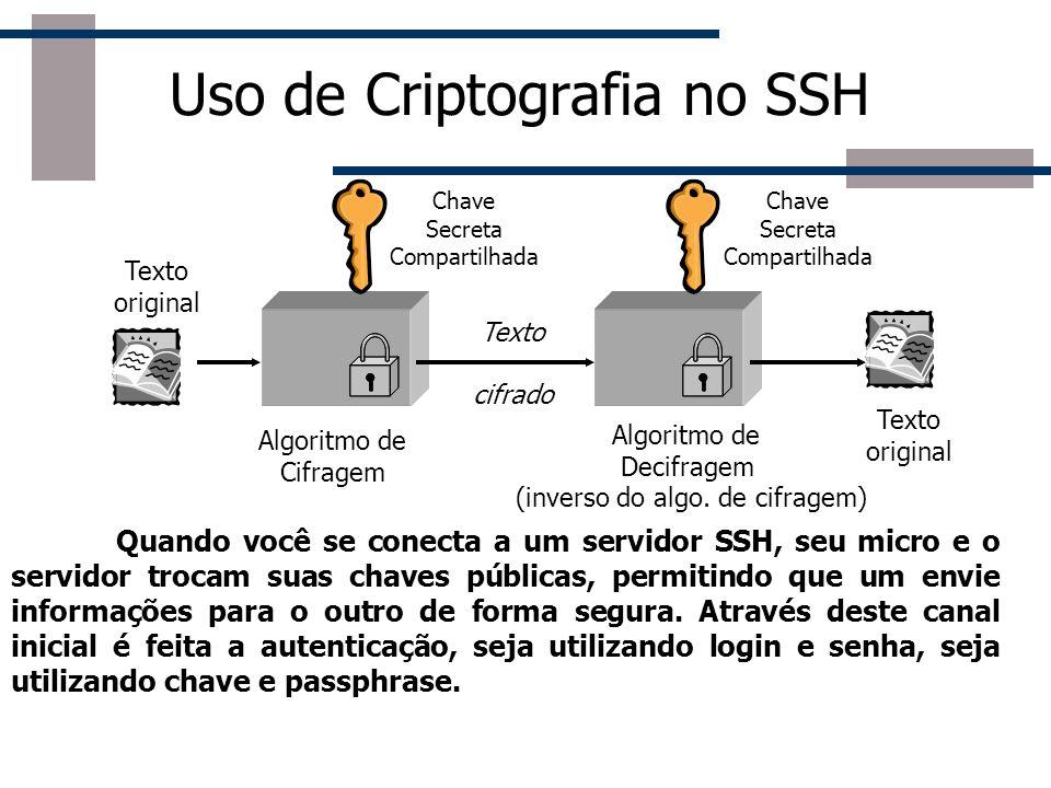 Uso de Criptografia no SSH
