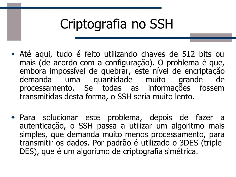Criptografia no SSH
