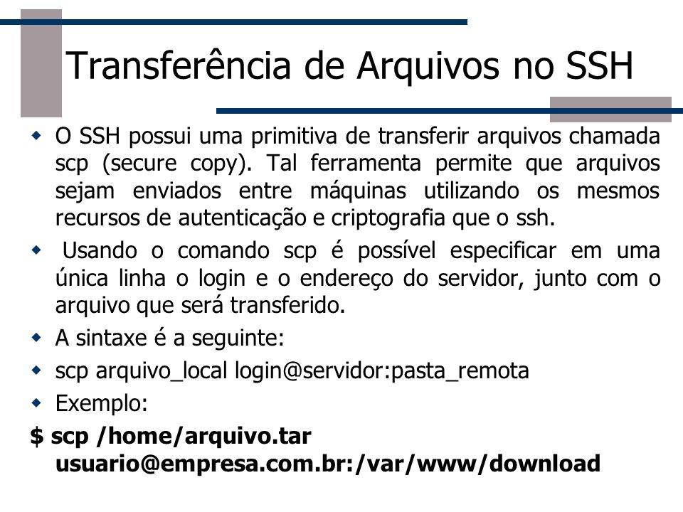 Transferência de Arquivos no SSH