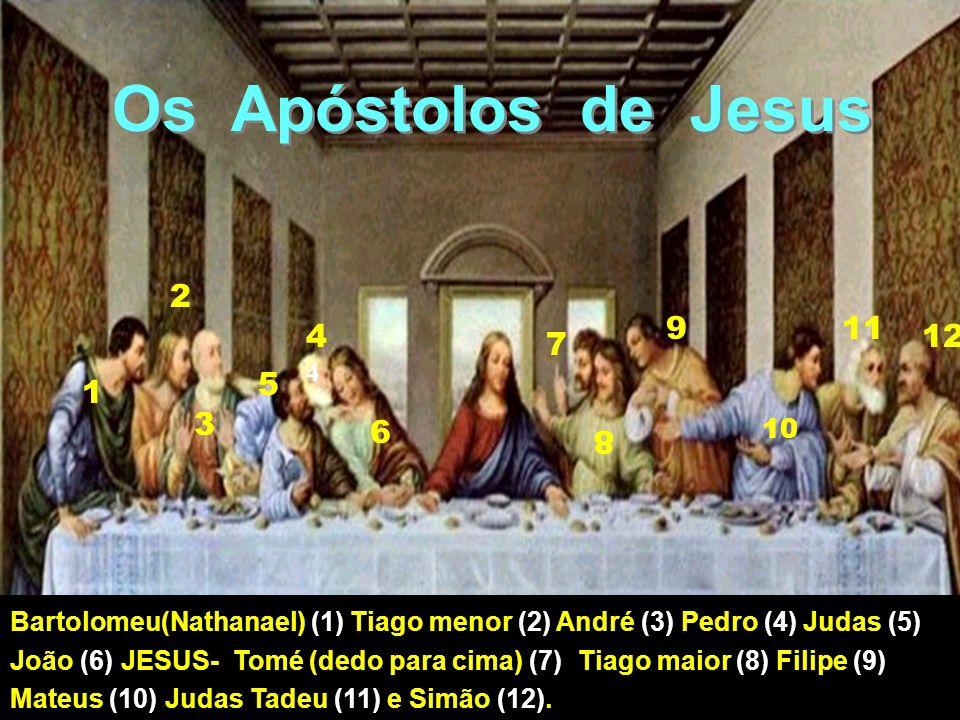 Os Apóstolos de Jesus 2. 9. 11. 44. 12. 7. 5. 1. 3. 6. 10. 8.