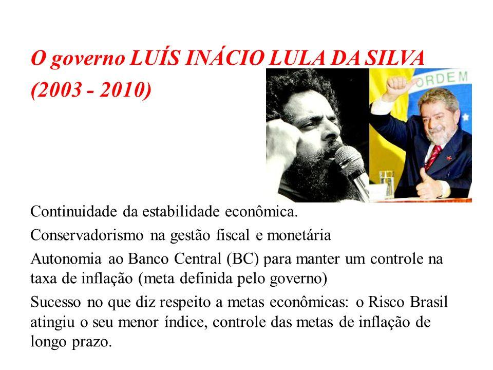 O governo LUÍS INÁCIO LULA DA SILVA (2003 - 2010)