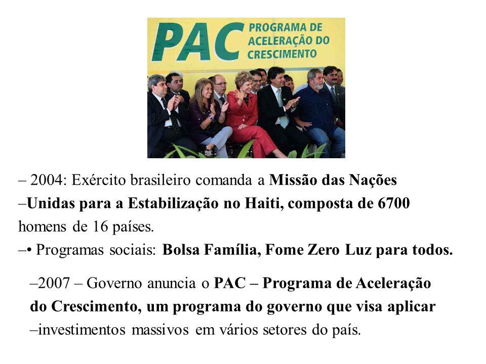 2004: Exército brasileiro comanda a Missão das Nações