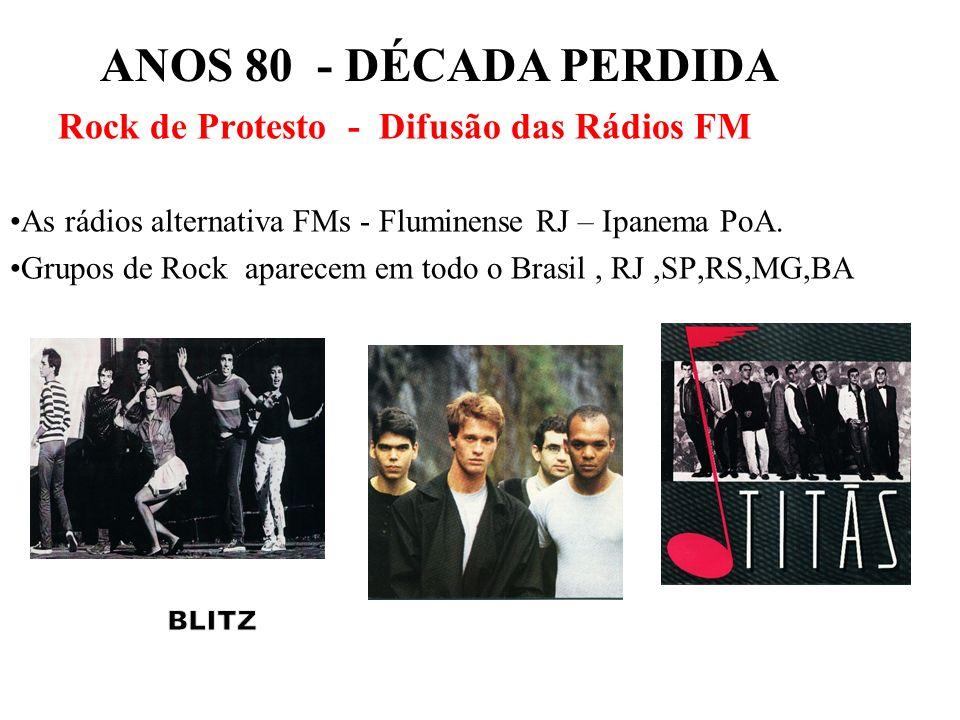 ANOS 80 - DÉCADA PERDIDA Rock de Protesto - Difusão das Rádios FM