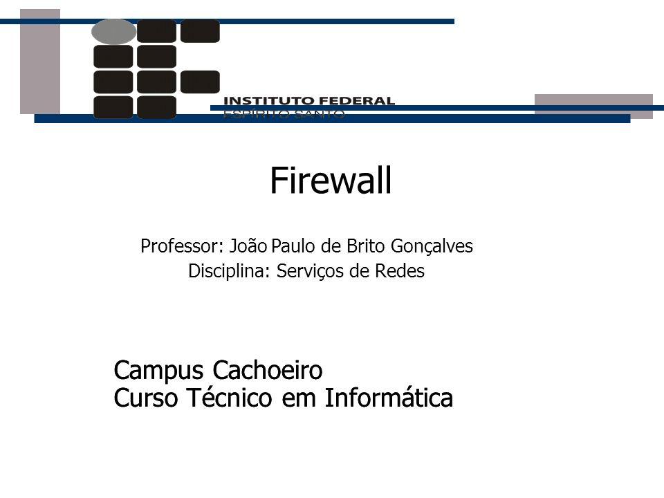 Firewall Campus Cachoeiro Curso Técnico em Informática