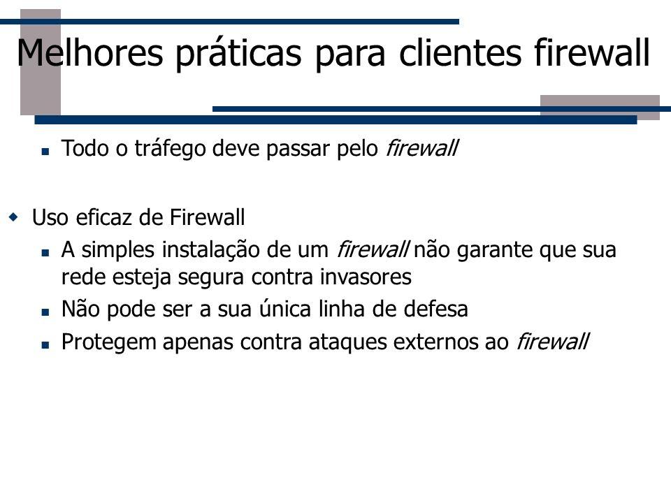 Melhores práticas para clientes firewall