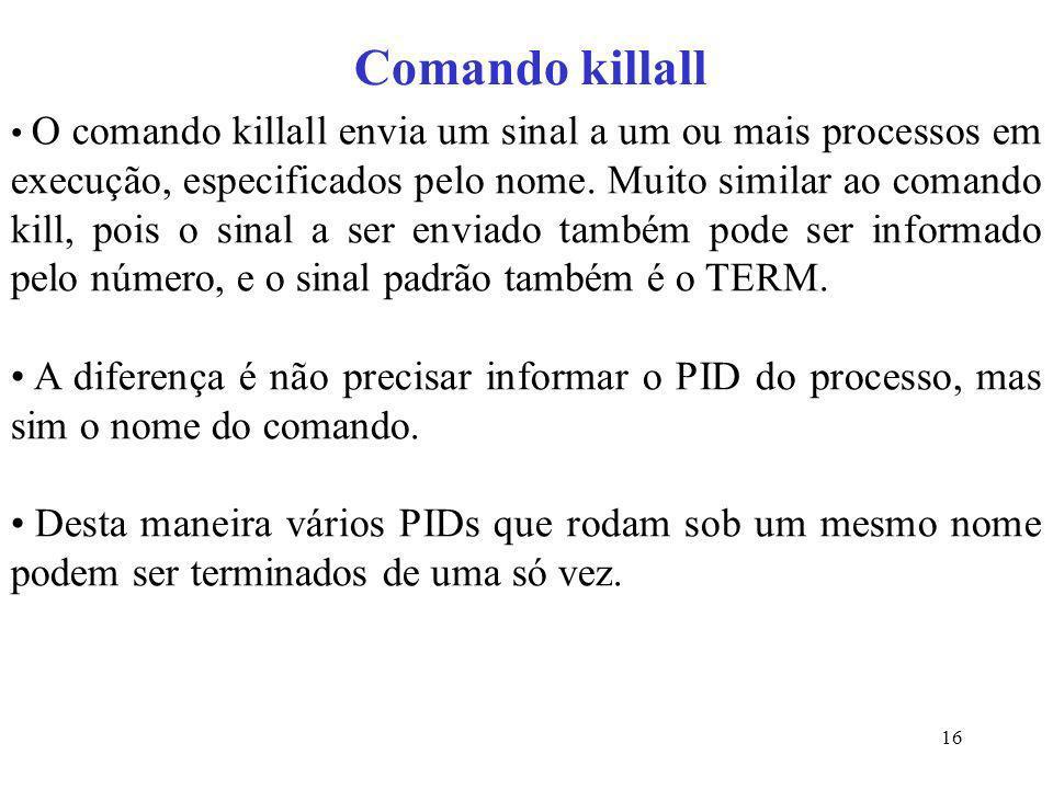 Comando killall