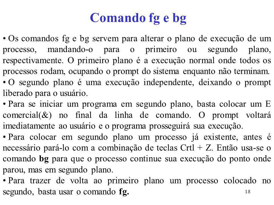 Comando fg e bg