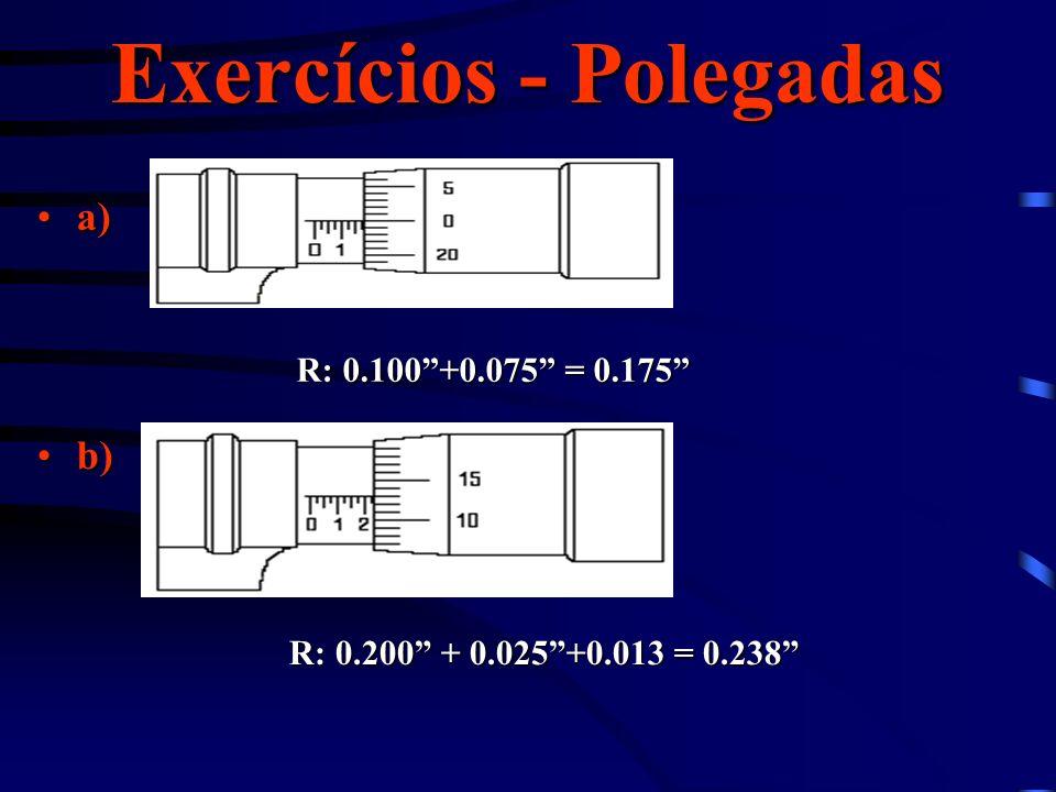 Exercícios - Polegadas