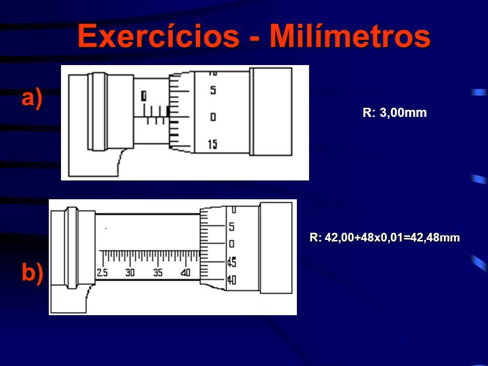 Exercícios - Milímetros
