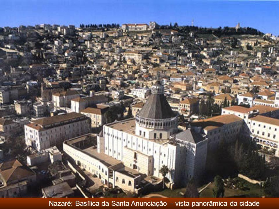 Nazaré: Basílica da Santa Anunciação – vista panorâmica da cidade