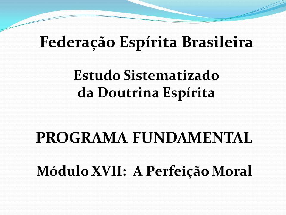 Federação Espírita Brasileira Módulo XVII: A Perfeição Moral
