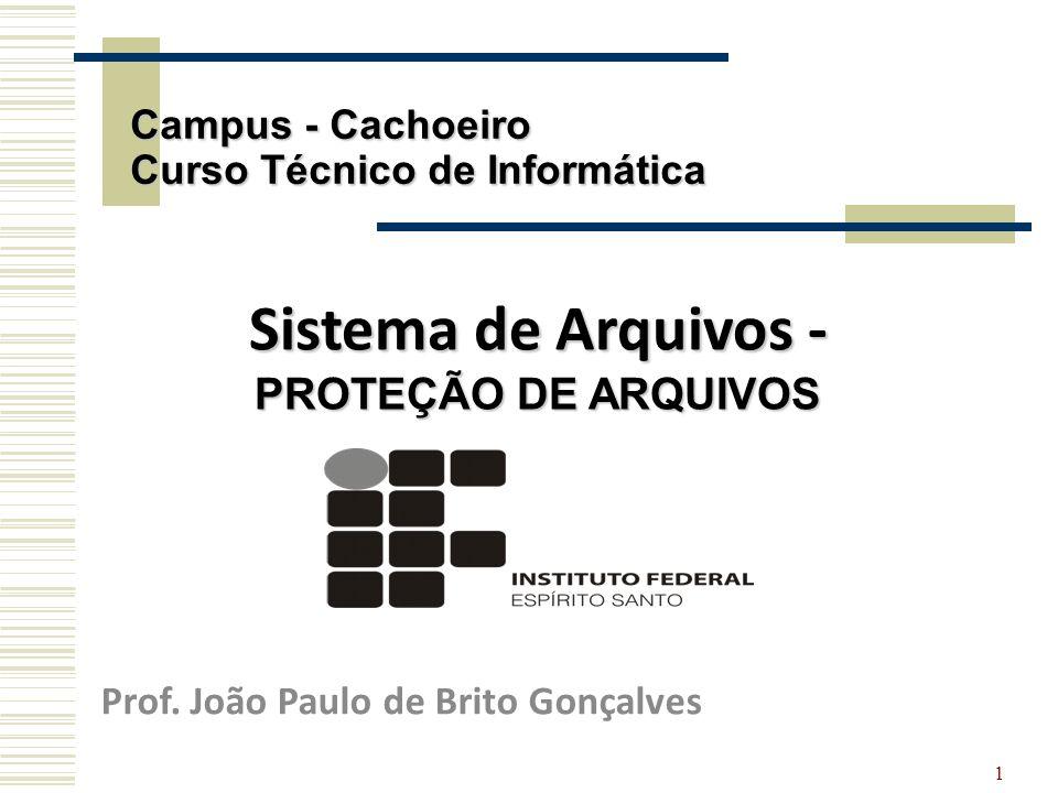 Sistema de Arquivos - PROTEÇÃO DE ARQUIVOS
