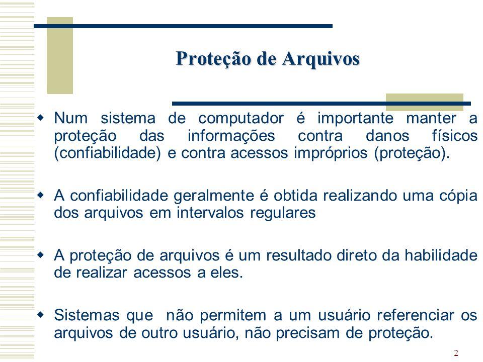 Proteção de Arquivos