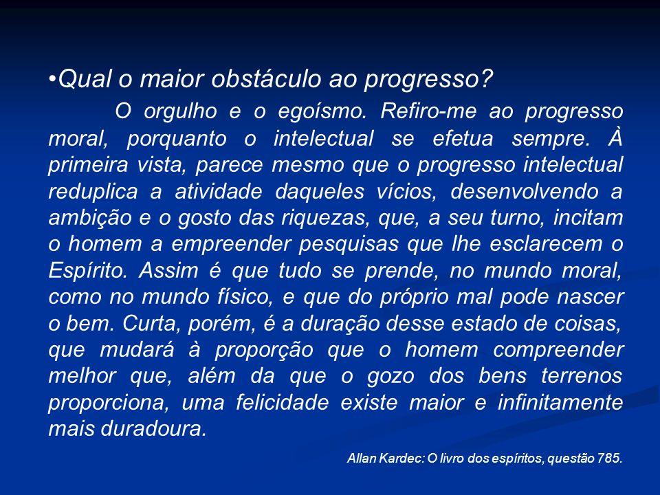 Qual o maior obstáculo ao progresso