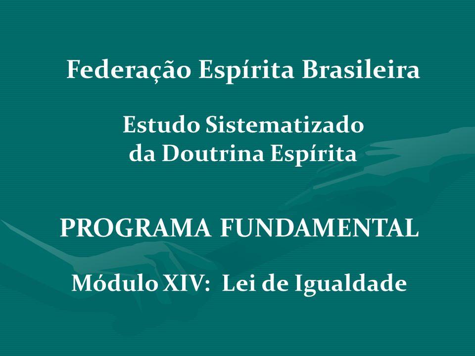 Federação Espírita Brasileira Módulo XIV: Lei de Igualdade