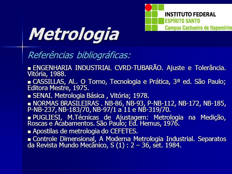 Metrologia Referências bibliográficas: