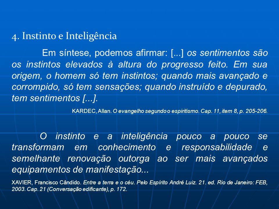4. Instinto e Inteligência