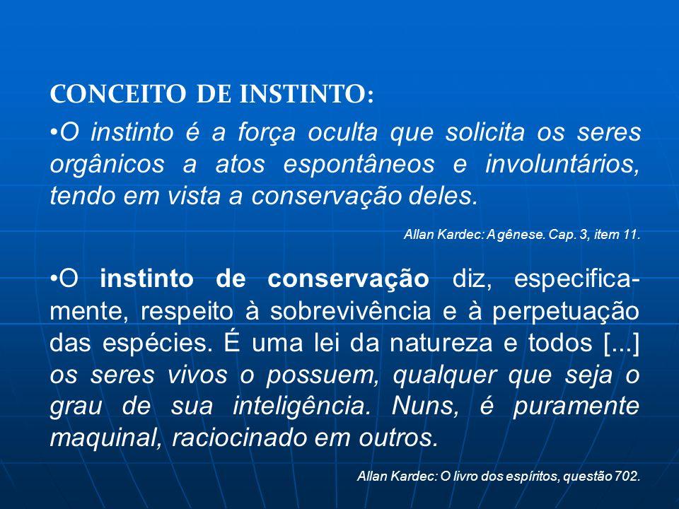 CONCEITO DE INSTINTO: