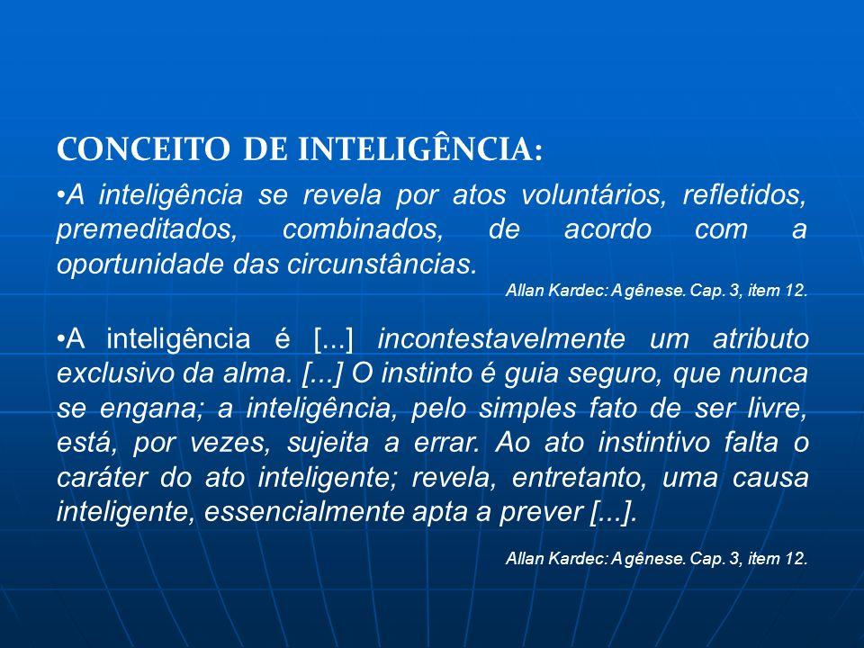 CONCEITO DE INTELIGÊNCIA: