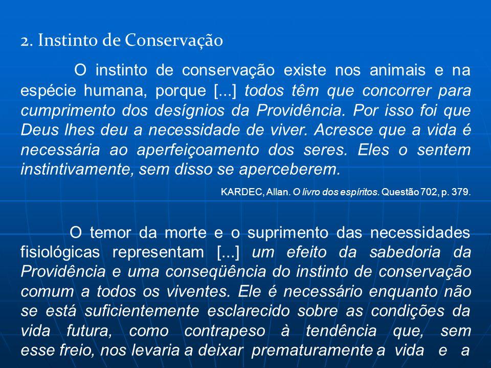 2. Instinto de Conservação