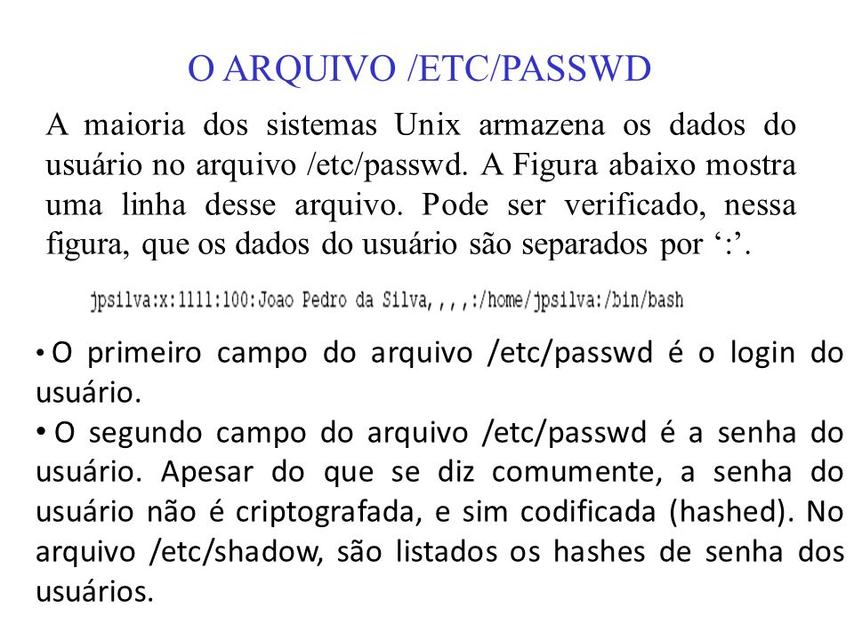 O ARQUIVO /ETC/PASSWD