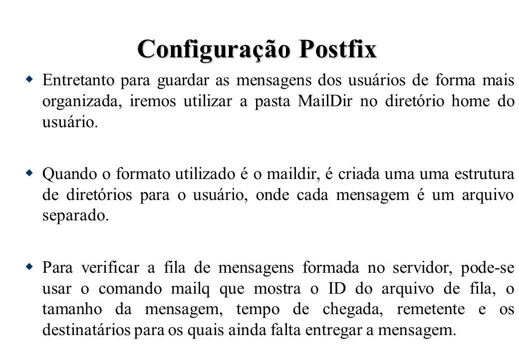 Configuração Postfix