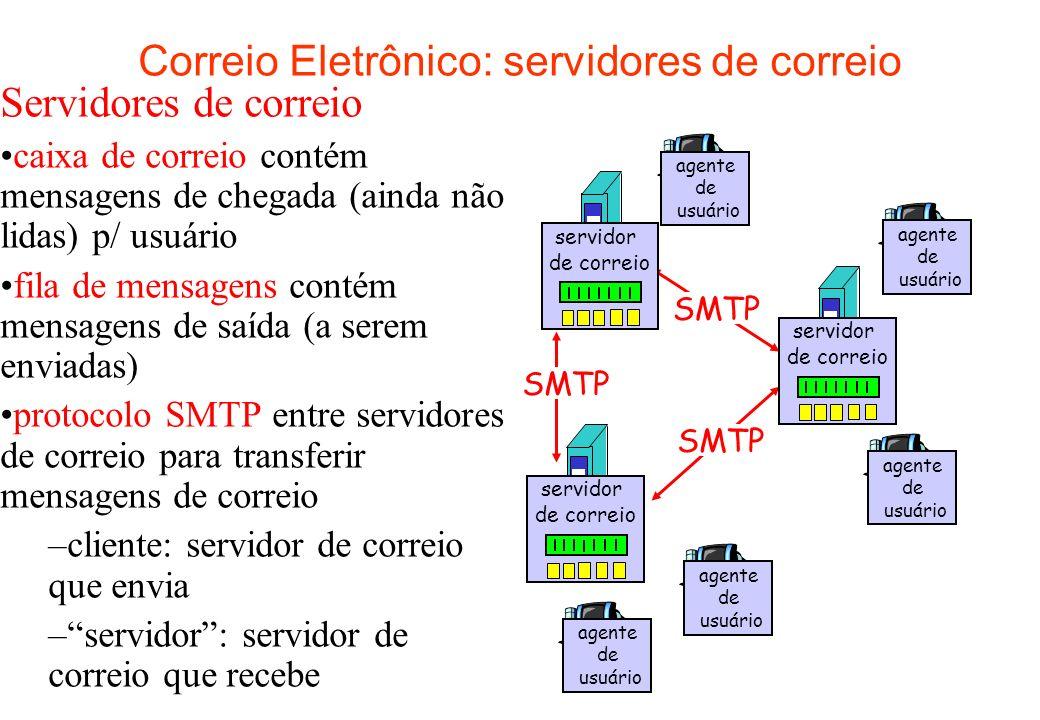 Correio Eletrônico: servidores de correio
