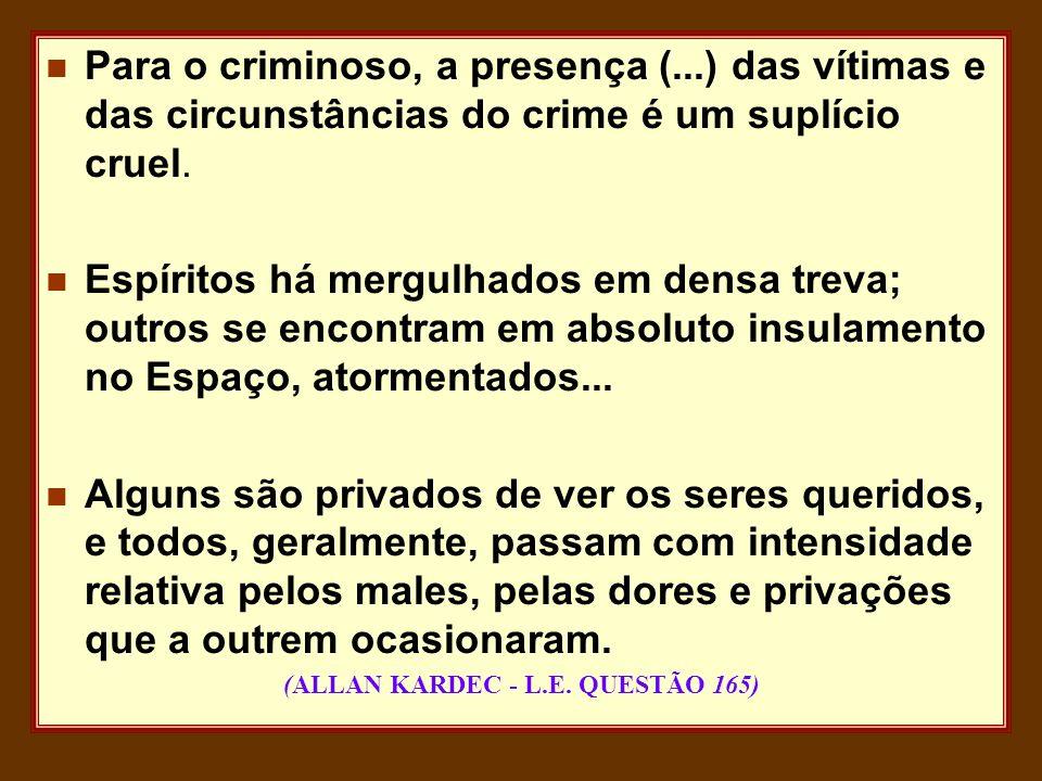 (ALLAN KARDEC - L.E. QUESTÃO 165)