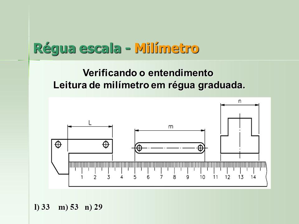 Régua escala - Milímetro