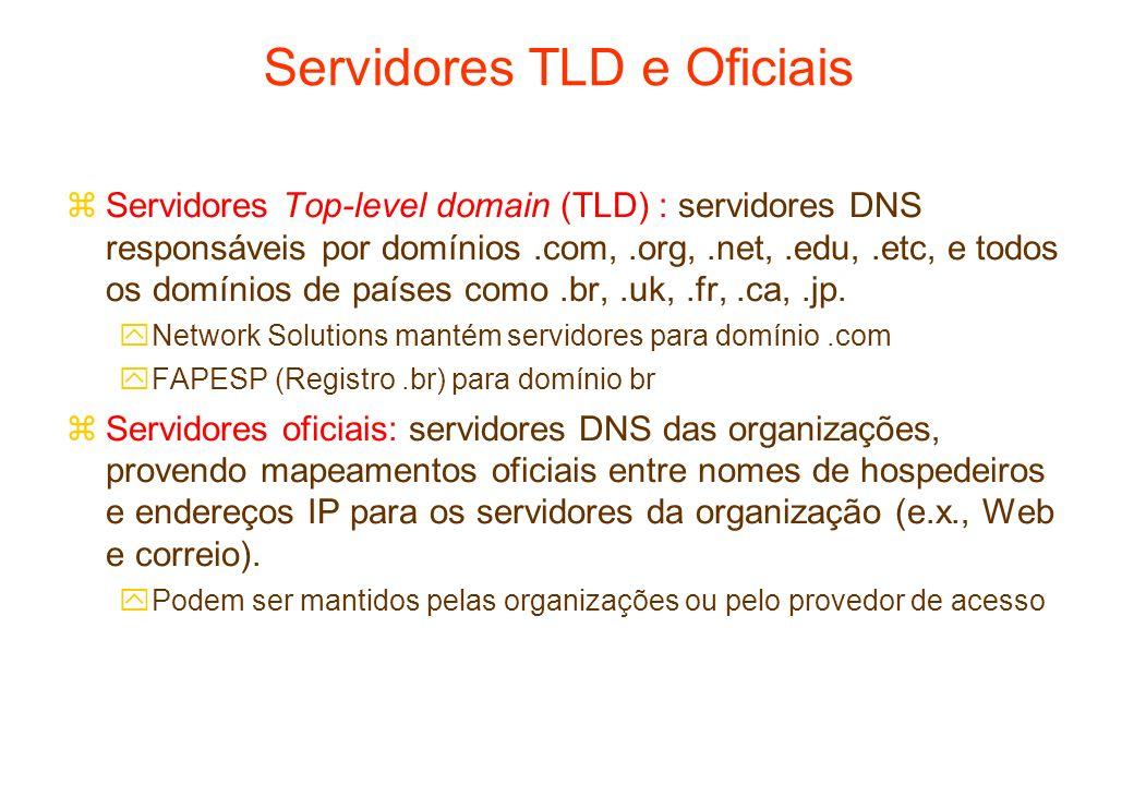 Servidores TLD e Oficiais