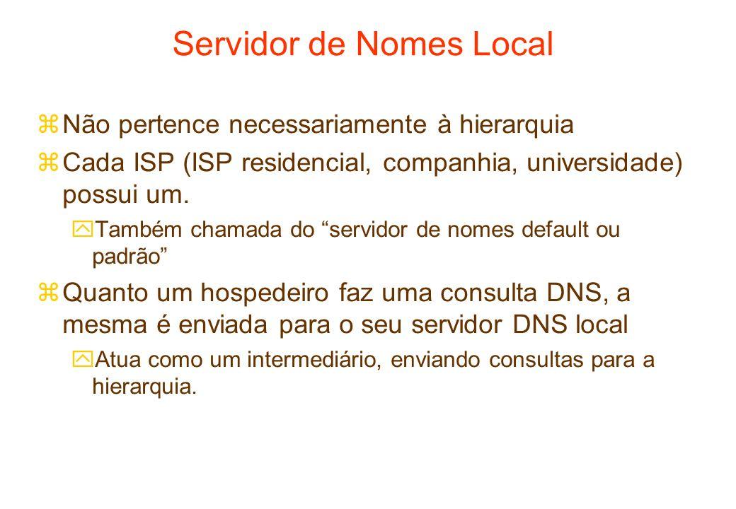Servidor de Nomes Local
