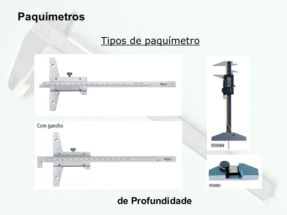 Paquímetros Tipos de paquímetro de Profundidade