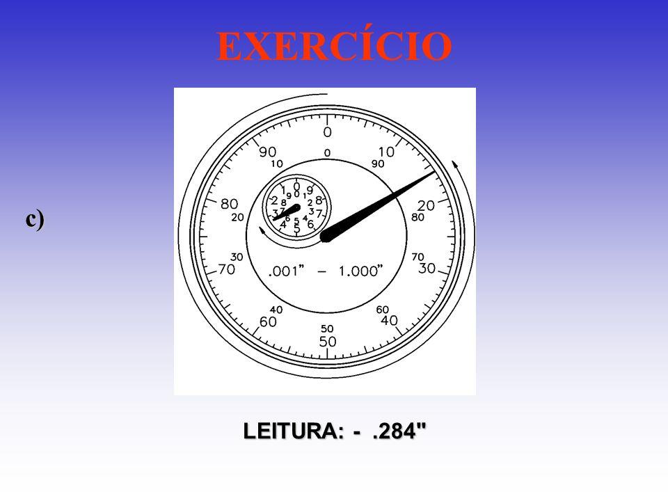 EXERCÍCIO c) LEITURA: - .284