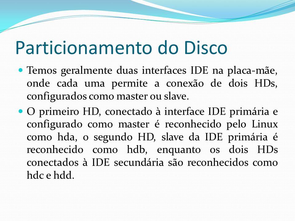 Particionamento do Disco