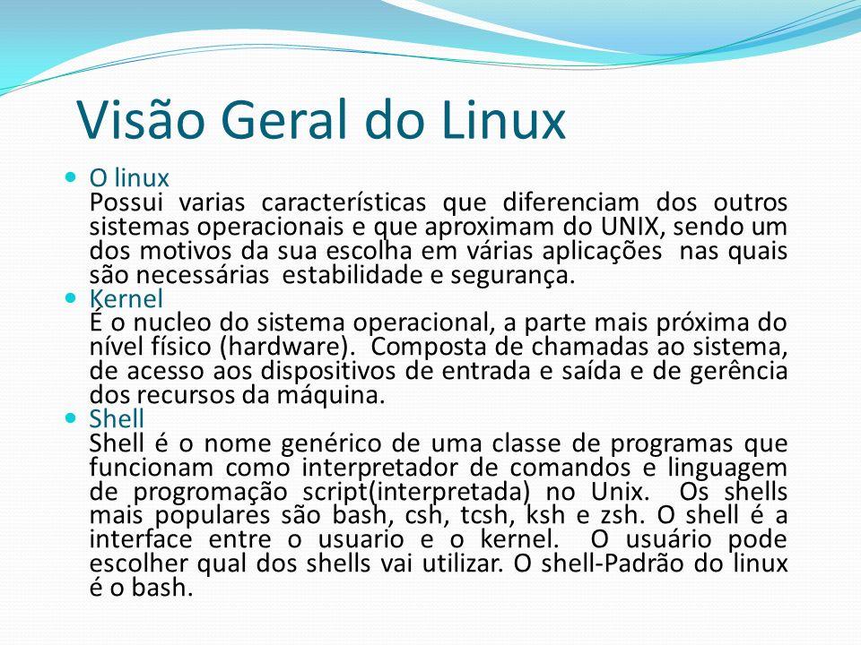Visão Geral do Linux O linux