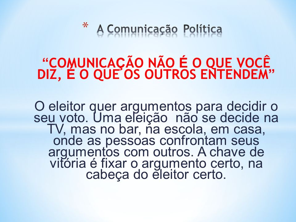 A Comunicação Política