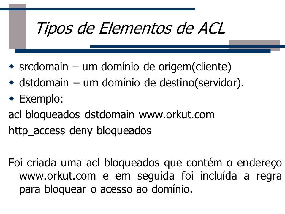 Tipos de Elementos de ACL