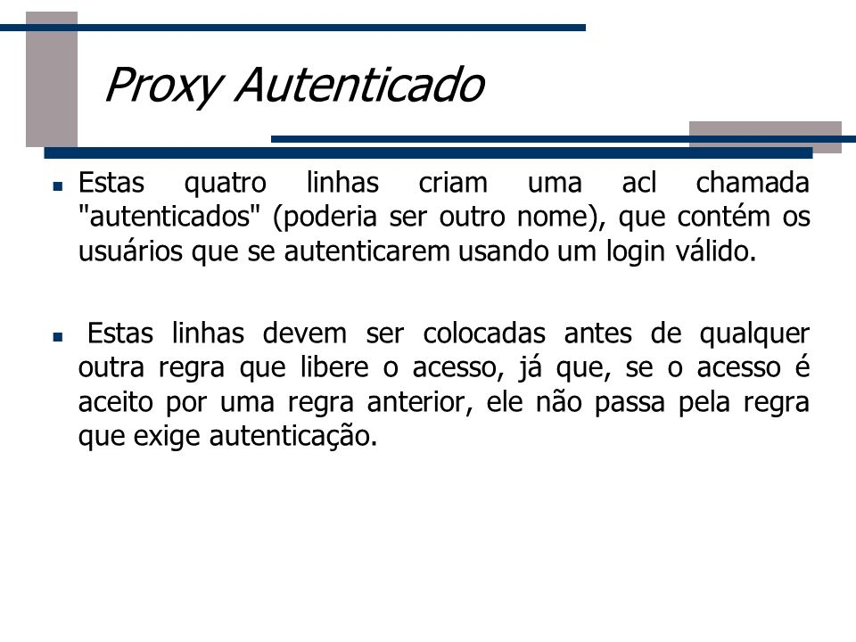 Proxy Autenticado