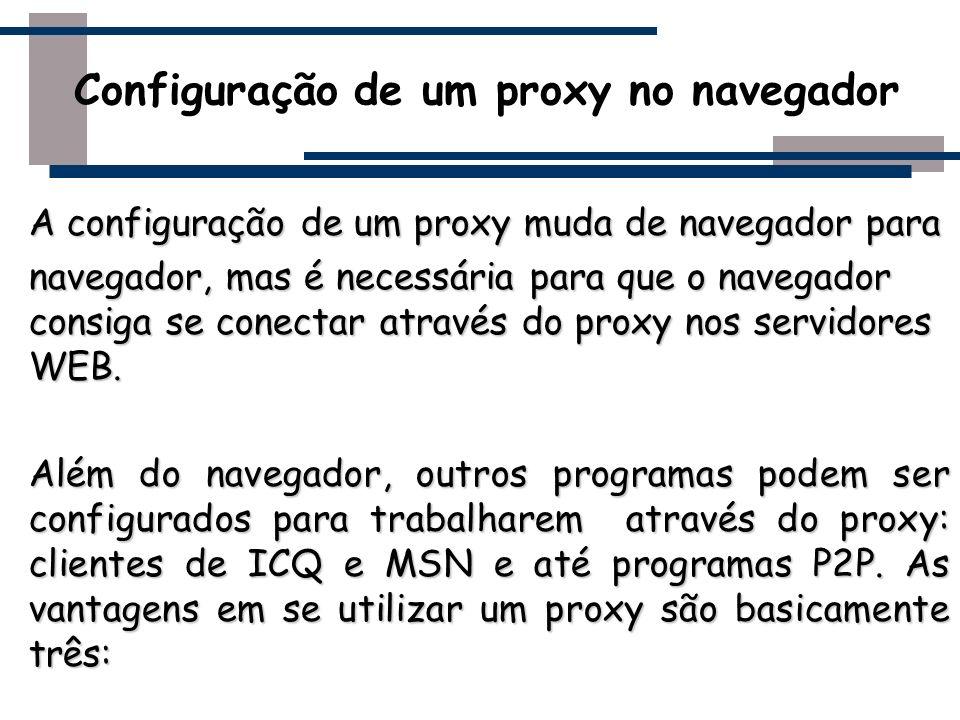 Configuração de um proxy no navegador