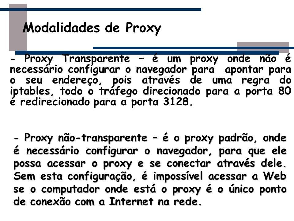 Modalidades de Proxy