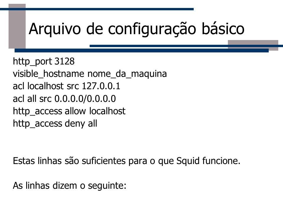 Arquivo de configuração básico