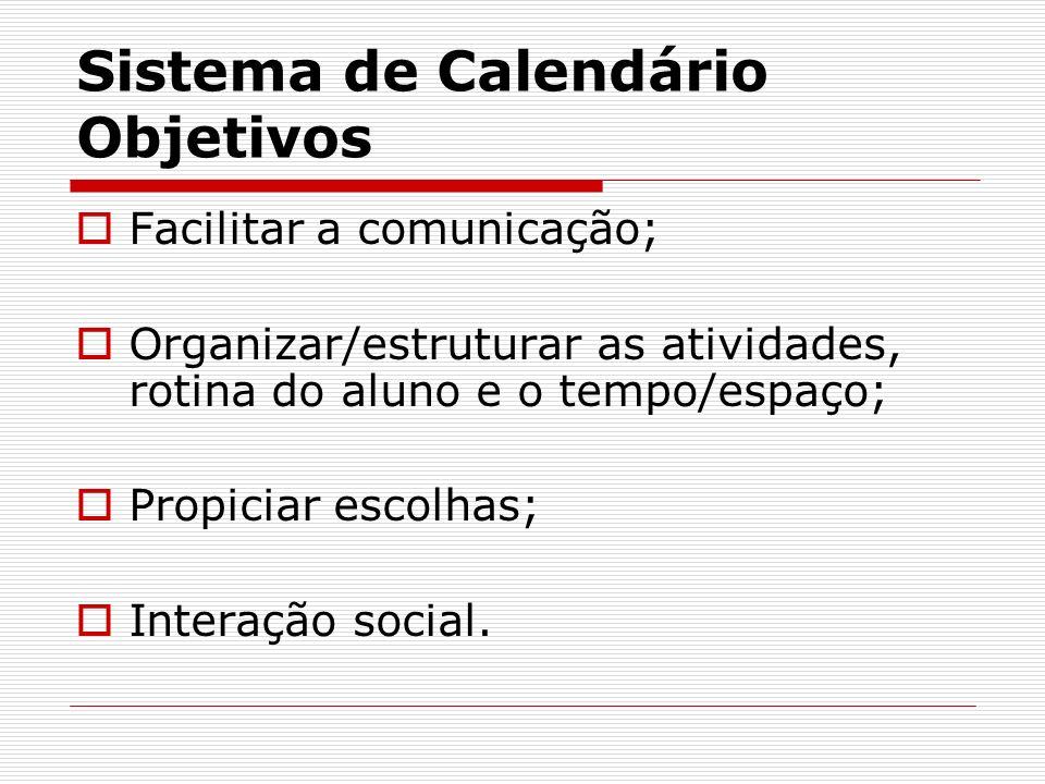 Sistema de Calendário Objetivos