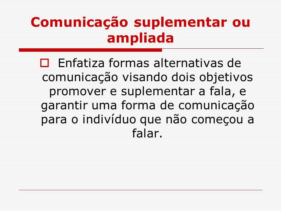 Comunicação suplementar ou ampliada