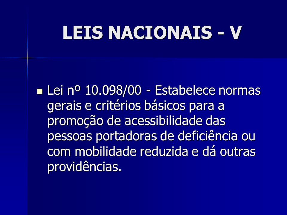LEIS NACIONAIS - V