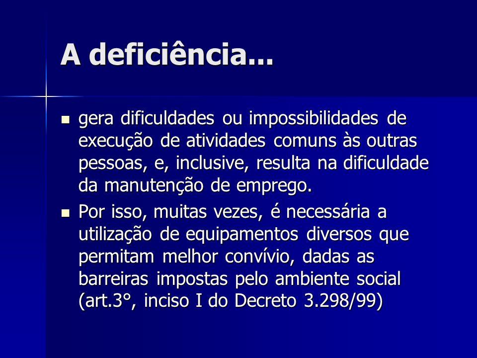 A deficiência...